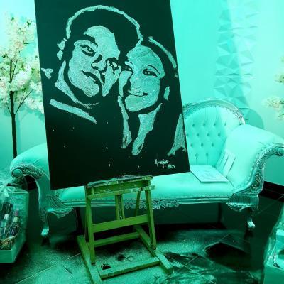 mariage portrait paillettes