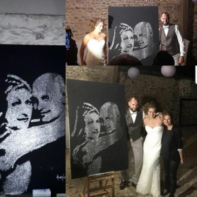 mariage portrait paillette